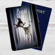 Bambi Tim Burton Custom Leather Passport Wallet Case Cover