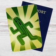 Cactuar Final Fantasy Custom Leather Passport Wallet Case Cover