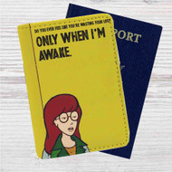 Daria Morgendorffer Custom Leather Passport Wallet Case Cover