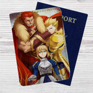 Fate Zero Three Kings Custom Leather Passport Wallet Case Cover