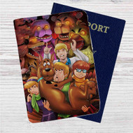 Five Nights at Freddy's and Scooby Doo Custom Leather Passport Wallet Case Cover