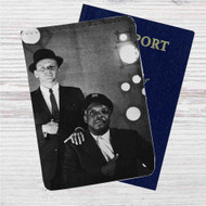 Frank Sinatra and Count Basie Custom Leather Passport Wallet Case Cover
