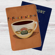 Friends Coffee Centrak Perk Custom Leather Passport Wallet Case Cover