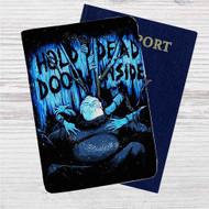 Hold Dead Door Inside Custom Leather Passport Wallet Case Cover