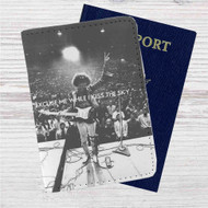 Jimi Hendrix Excuse Me Custom Leather Passport Wallet Case Cover