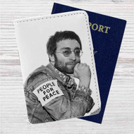 John Lennon 1970 Custom Leather Passport Wallet Case Cover
