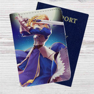 King Arthur Fate Stay Night Anime Custom Leather Passport Wallet Case Cover