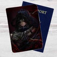 Kitana Mortal Kombat X Custom Leather Passport Wallet Case Cover
