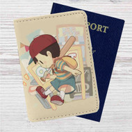 Ness Earthbound Custom Leather Passport Wallet Case Cover