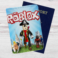 Roblox Custom Leather Passport Wallet Case Cover