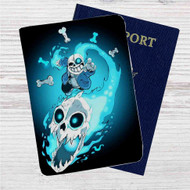 Sans The Skeleton Undertale Custom Leather Passport Wallet Case Cover