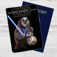 Star Wars Meets Zootopia Custom Leather Passport Wallet Case Cover