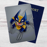 Stitch as Wolverine Custom Leather Passport Wallet Case Cover