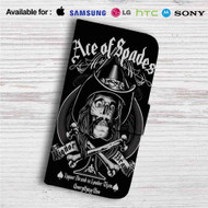 Ace of Spades Custom Leather Wallet iPhone 4/4S 5S/C 6/6S Plus 7| Samsung Galaxy S4 S5 S6 S7 Note 3 4 5| LG G2 G3 G4| Motorola Moto X X2 Nexus 6| Sony Z3 Z4 Mini| HTC ONE X M7 M8 M9 Case