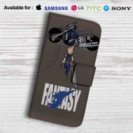 Akira Final Fantasy Custom Leather Wallet iPhone 4/4S 5S/C 6/6S Plus 7| Samsung Galaxy S4 S5 S6 S7 Note 3 4 5| LG G2 G3 G4| Motorola Moto X X2 Nexus 6| Sony Z3 Z4 Mini| HTC ONE X M7 M8 M9 Case