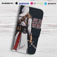Assassin's Creed Altair Quotes Custom Leather Wallet iPhone 4/4S 5S/C 6/6S Plus 7| Samsung Galaxy S4 S5 S6 S7 Note 3 4 5| LG G2 G3 G4| Motorola Moto X X2 Nexus 6| Sony Z3 Z4 Mini| HTC ONE X M7 M8 M9 Case