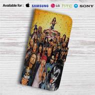 Axl Rose, Ozzy Osbourne, James Hetfield, Gene Simmons All Rocker Custom Leather Wallet iPhone 4/4S 5S/C 6/6S Plus 7| Samsung Galaxy S4 S5 S6 S7 Note 3 4 5| LG G2 G3 G4| Motorola Moto X X2 Nexus 6| Sony Z3 Z4 Mini| HTC ONE X M7 M8 M9 Case