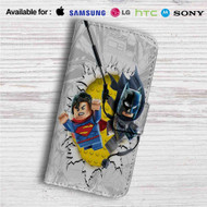 Batman and Superman Lego Custom Leather Wallet iPhone 4/4S 5S/C 6/6S Plus 7| Samsung Galaxy S4 S5 S6 S7 Note 3 4 5| LG G2 G3 G4| Motorola Moto X X2 Nexus 6| Sony Z3 Z4 Mini| HTC ONE X M7 M8 M9 Case