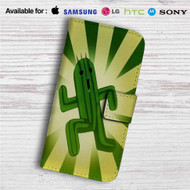 Cactuar Final Fantasy Leather Wallet iPhone 4/4S 5S/C 6/6S Plus 7| Samsung Galaxy S4 S5 S6 S7 Note 3 4 5| LG G2 G3 G4| Motorola Moto X X2 Nexus 6| Sony Z3 Z4 Mini| HTC ONE X M7 M8 M9 Case