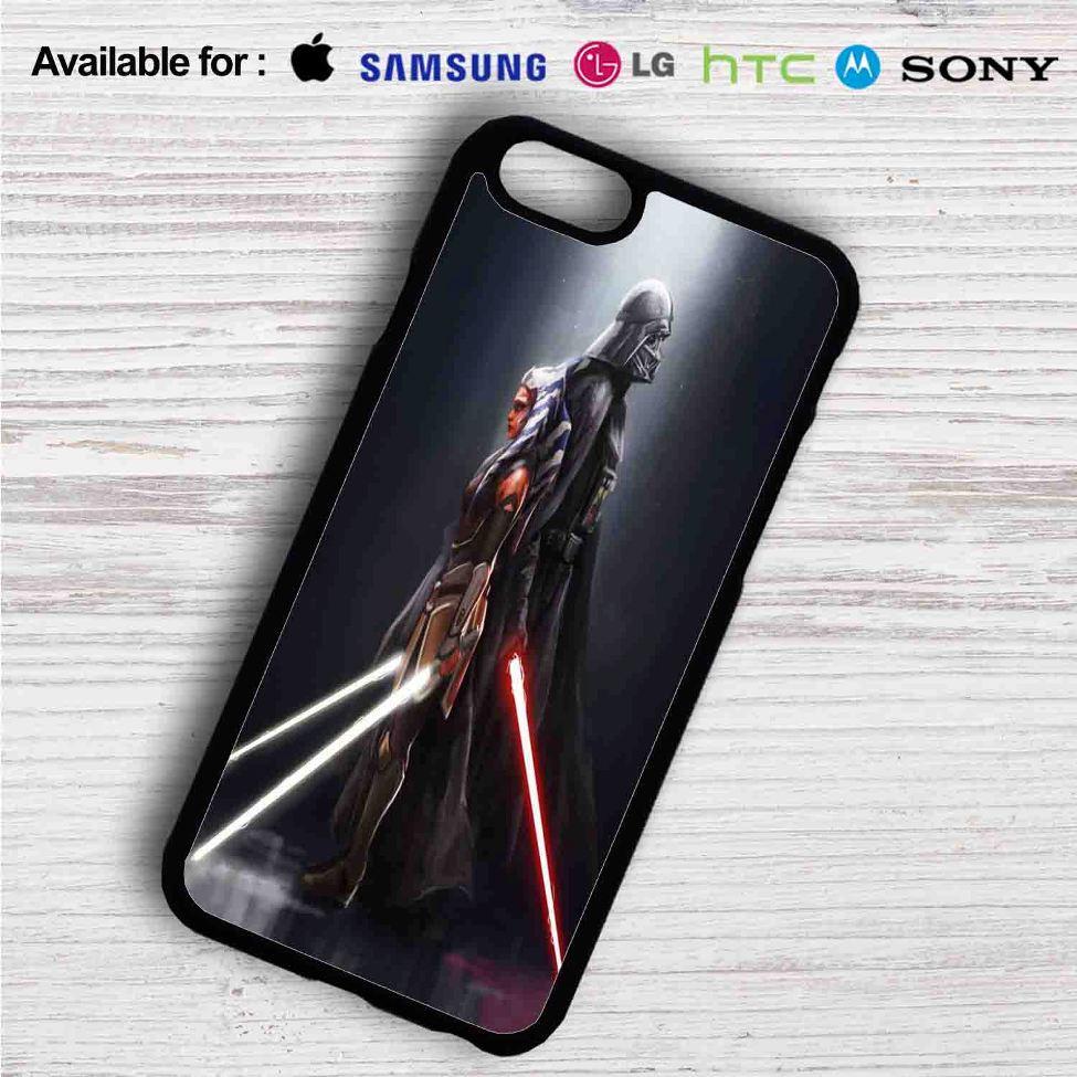 newest 50546 97bc4 Darth Vader and Ahsoka Tano iPhone 4/4S 5 S/C/SE 6/6S Plus 7| Samsung  Galaxy S4 S5 S6 S7 NOTE 3 4 5| LG G2 G3 G4| MOTOROLA MOTO X X2 NEXUS 6|  SONY Z3 ...