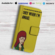 Daria Morgendorffer Custom Leather Wallet iPhone 4/4S 5S/C 6/6S Plus 7| Samsung Galaxy S4 S5 S6 S7 Note 3 4 5| LG G2 G3 G4| Motorola Moto X X2 Nexus 6| Sony Z3 Z4 Mini| HTC ONE X M7 M8 M9 Case