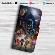 DC Comics Superheroes Lego Custom Leather Wallet iPhone 4/4S 5S/C 6/6S Plus 7| Samsung Galaxy S4 S5 S6 S7 Note 3 4 5| LG G2 G3 G4| Motorola Moto X X2 Nexus 6| Sony Z3 Z4 Mini| HTC ONE X M7 M8 M9 Case