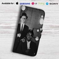 Frank Sinatra and Count Basie Custom Leather Wallet iPhone 4/4S 5S/C 6/6S Plus 7| Samsung Galaxy S4 S5 S6 S7 Note 3 4 5| LG G2 G3 G4| Motorola Moto X X2 Nexus 6| Sony Z3 Z4 Mini| HTC ONE X M7 M8 M9 Case