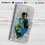 Green Lantern Lego Custom Leather Wallet iPhone 4/4S 5S/C 6/6S Plus 7| Samsung Galaxy S4 S5 S6 S7 Note 3 4 5| LG G2 G3 G4| Motorola Moto X X2 Nexus 6| Sony Z3 Z4 Mini| HTC ONE X M7 M8 M9 Case