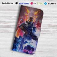 Halo 5 Guardians Custom Leather Wallet iPhone 4/4S 5S/C 6/6S Plus 7| Samsung Galaxy S4 S5 S6 S7 Note 3 4 5| LG G2 G3 G4| Motorola Moto X X2 Nexus 6| Sony Z3 Z4 Mini| HTC ONE X M7 M8 M9 Case
