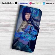 Hinata Hyuga Naruto Custom Leather Wallet iPhone 4/4S 5S/C 6/6S Plus 7| Samsung Galaxy S4 S5 S6 S7 Note 3 4 5| LG G2 G3 G4| Motorola Moto X X2 Nexus 6| Sony Z3 Z4 Mini| HTC ONE X M7 M8 M9 Case