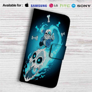 Sans The Skeleton Undertale Custom Leather Wallet iPhone 4/4S 5S/C 6/6S Plus 7| Samsung Galaxy S4 S5 S6 S7 Note 3 4 5| LG G2 G3 G4| Motorola Moto X X2 Nexus 6| Sony Z3 Z4 Mini| HTC ONE X M7 M8 M9 Case