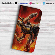 Scorpion Mortal Kombat X Custom Leather Wallet iPhone 4/4S 5S/C 6/6S Plus 7| Samsung Galaxy S4 S5 S6 S7 Note 3 4 5| LG G2 G3 G4| Motorola Moto X X2 Nexus 6| Sony Z3 Z4 Mini| HTC ONE X M7 M8 M9 Case