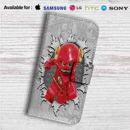 The Flash Lego Custom Leather Wallet iPhone 4/4S 5S/C 6/6S Plus 7| Samsung Galaxy S4 S5 S6 S7 Note 3 4 5| LG G2 G3 G4| Motorola Moto X X2 Nexus 6| Sony Z3 Z4 Mini| HTC ONE X M7 M8 M9 Case