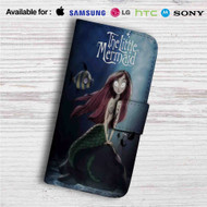 The Little Mermaid Tim Burton Custom Leather Wallet iPhone 4/4S 5S/C 6/6S Plus 7| Samsung Galaxy S4 S5 S6 S7 Note 3 4 5| LG G2 G3 G4| Motorola Moto X X2 Nexus 6| Sony Z3 Z4 Mini| HTC ONE X M7 M8 M9 Case