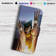 Wolverine Xmen Lego Custom Leather Wallet iPhone 4/4S 5S/C 6/6S Plus 7| Samsung Galaxy S4 S5 S6 S7 Note 3 4 5| LG G2 G3 G4| Motorola Moto X X2 Nexus 6| Sony Z3 Z4 Mini| HTC ONE X M7 M8 M9 Case