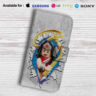 Wonder Woman Lego Custom Leather Wallet iPhone 4/4S 5S/C 6/6S Plus 7| Samsung Galaxy S4 S5 S6 S7 Note 3 4 5| LG G2 G3 G4| Motorola Moto X X2 Nexus 6| Sony Z3 Z4 Mini| HTC ONE X M7 M8 M9 Case