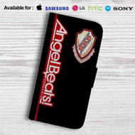 Angel Beats Custom Leather Wallet iPhone 4/4S 5S/C 6/6S Plus 7| Samsung Galaxy S4 S5 S6 S7 Note 3 4 5| LG G2 G3 G4| Motorola Moto X X2 Nexus 6| Sony Z3 Z4 Mini| HTC ONE X M7 M8 M9 Case
