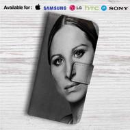 Barbra Streisand Custom Leather Wallet iPhone 4/4S 5S/C 6/6S Plus 7  Samsung Galaxy S4 S5 S6 S7 Note 3 4 5  LG G2 G3 G4  Motorola Moto X X2 Nexus 6  Sony Z3 Z4 Mini  HTC ONE X M7 M8 M9 Case