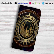 Battlestar Galactica Custom Leather Wallet iPhone 4/4S 5S/C 6/6S Plus 7| Samsung Galaxy S4 S5 S6 S7 Note 3 4 5| LG G2 G3 G4| Motorola Moto X X2 Nexus 6| Sony Z3 Z4 Mini| HTC ONE X M7 M8 M9 Case