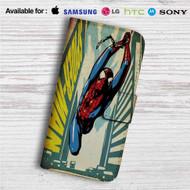 Comic Spiderman Custom Leather Wallet iPhone 4/4S 5S/C 6/6S Plus 7| Samsung Galaxy S4 S5 S6 S7 Note 3 4 5| LG G2 G3 G4| Motorola Moto X X2 Nexus 6| Sony Z3 Z4 Mini| HTC ONE X M7 M8 M9 Case