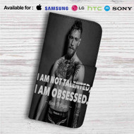 Conor Mcgregor I am Not Talented Custom Leather Wallet iPhone 4/4S 5S/C 6/6S Plus 7  Samsung Galaxy S4 S5 S6 S7 Note 3 4 5  LG G2 G3 G4  Motorola Moto X X2 Nexus 6  Sony Z3 Z4 Mini  HTC ONE X M7 M8 M9 Case