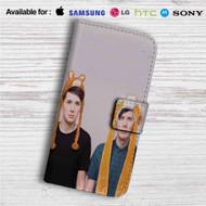 Dan And Phil Small Llama Custom Leather Wallet iPhone 4/4S 5S/C 6/6S Plus 7| Samsung Galaxy S4 S5 S6 S7 Note 3 4 5| LG G2 G3 G4| Motorola Moto X X2 Nexus 6| Sony Z3 Z4 Mini| HTC ONE X M7 M8 M9 Case