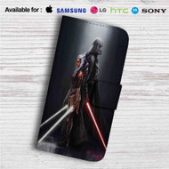 Darth Vader and Ahsoka Tano Custom Leather Wallet iPhone 4/4S 5S/C 6/6S Plus 7| Samsung Galaxy S4 S5 S6 S7 Note 3 4 5| LG G2 G3 G4| Motorola Moto X X2 Nexus 6| Sony Z3 Z4 Mini| HTC ONE X M7 M8 M9 Case