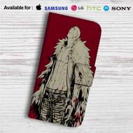 Doflamingo One Piece Custom Leather Wallet iPhone 4/4S 5S/C 6/6S Plus 7  Samsung Galaxy S4 S5 S6 S7 Note 3 4 5  LG G2 G3 G4  Motorola Moto X X2 Nexus 6  Sony Z3 Z4 Mini  HTC ONE X M7 M8 M9 Case