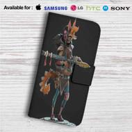 Fury Beats Lily Slash Custom Leather Wallet iPhone 4/4S 5S/C 6/6S Plus 7  Samsung Galaxy S4 S5 S6 S7 Note 3 4 5  LG G2 G3 G4  Motorola Moto X X2 Nexus 6  Sony Z3 Z4 Mini  HTC ONE X M7 M8 M9 Case
