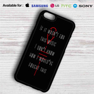 Twenty One Pilots Quotes iPhone 4/4S 5 S/C/SE 6/6S Plus 7| Samsung Galaxy S4 S5 S6 S7 NOTE 3 4 5| LG G2 G3 G4| MOTOROLA MOTO X X2 NEXUS 6| SONY Z3 Z4 MINI| HTC ONE X M7 M8 M9 M8 MINI CASE