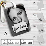 Barbra Streisand Custom Leather Luggage Tag