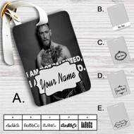 Conor Mcgregor I am Not Talented Custom Leather Luggage Tag