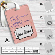 Grey's Anatomy Love Me Custom Leather Luggage Tag