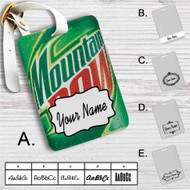 Mountain Dew Custom Leather Luggage Tag